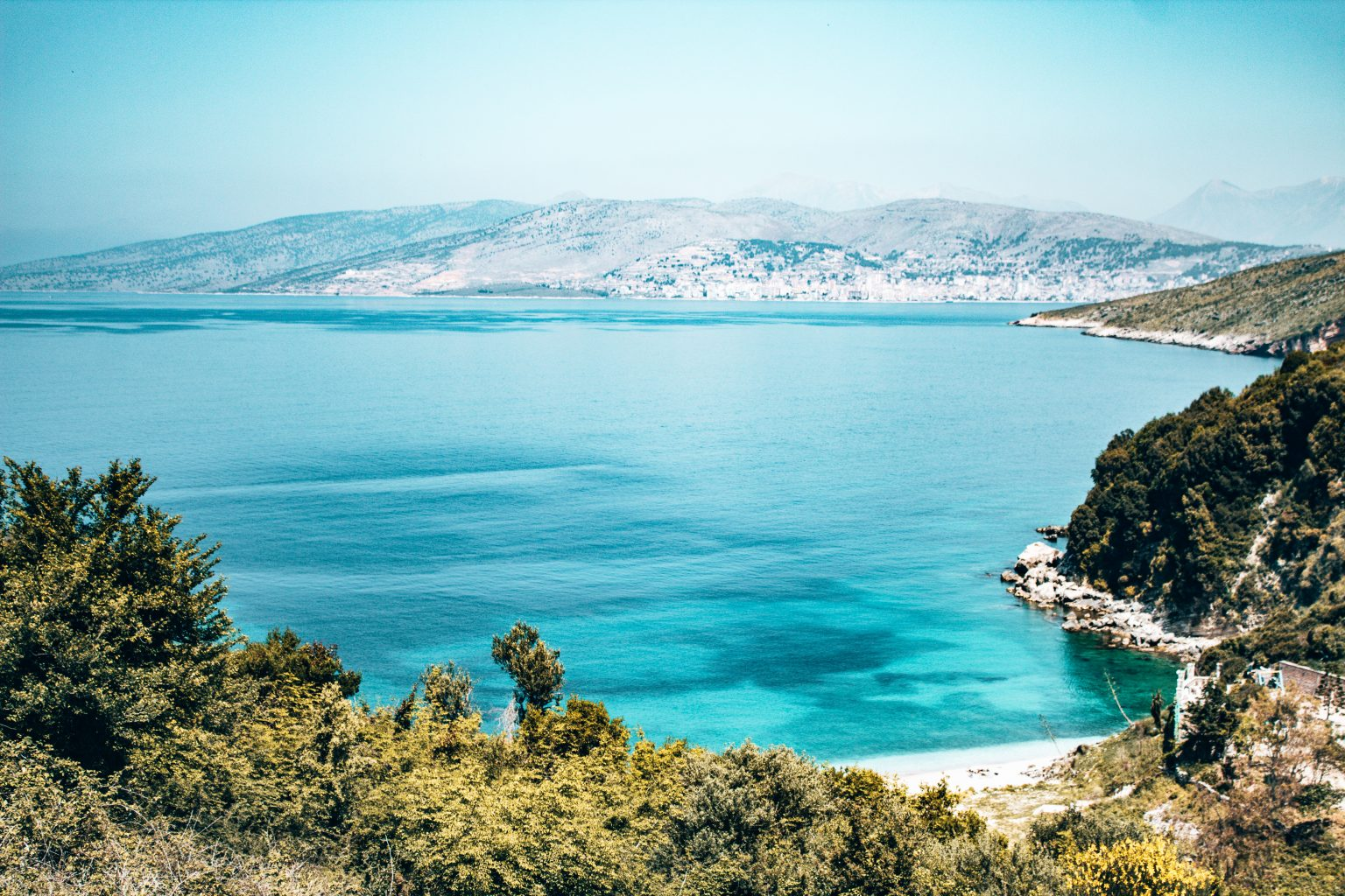 The beautiful beaches of the Albanian Riviera