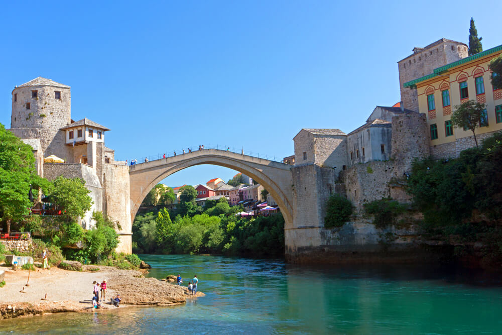 The beautiful bridge in Mostar, Bosnia and Herzegovina